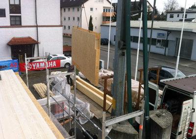 Anbau eines Industriegebäudes 1
