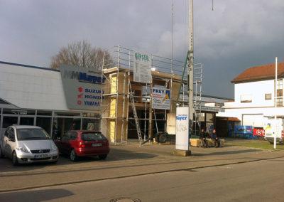 Anbau eines Industriegebäudes 2