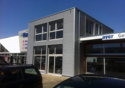 Anbau eines Industriegebäudes