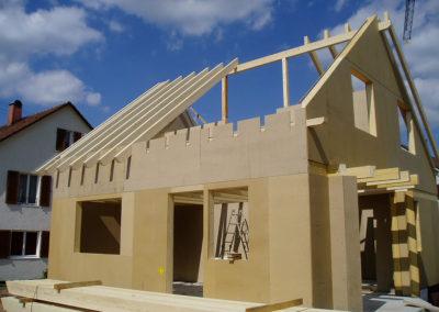 Einfamilienhaus in Holzständerbauweise